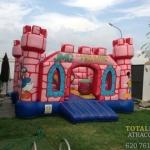 Castillo Hinchable Torres Rosa